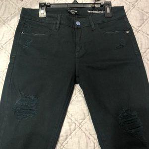 Bebe tipped heartbreaker skinny jeans